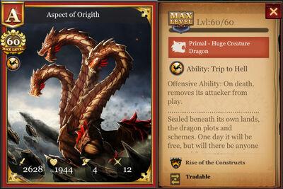 Aspect of Origith max