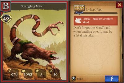 Strangling Mawl max