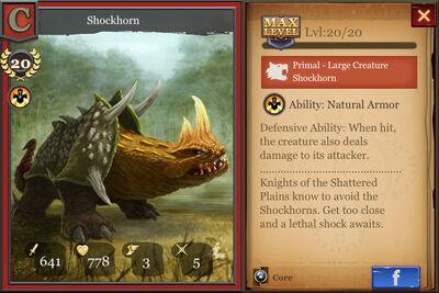 Shockhorn max