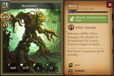 Rootweaver max
