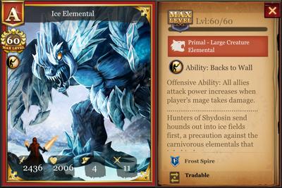 Ice Elemental max