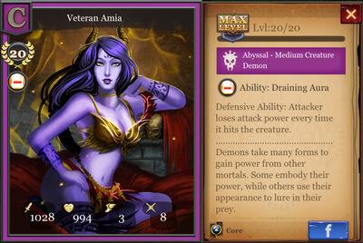 Veteran Amia max