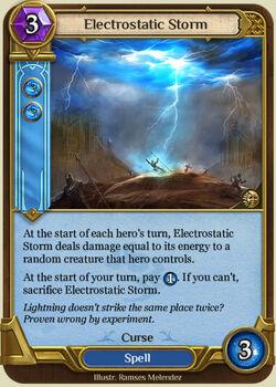 Electrostatic Storm