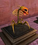 Skeletal spider museum angled