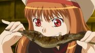 Holo eating