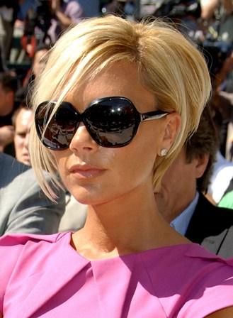 Victoria Beckham Short Blonde Bob Haircuts 5 Jpg