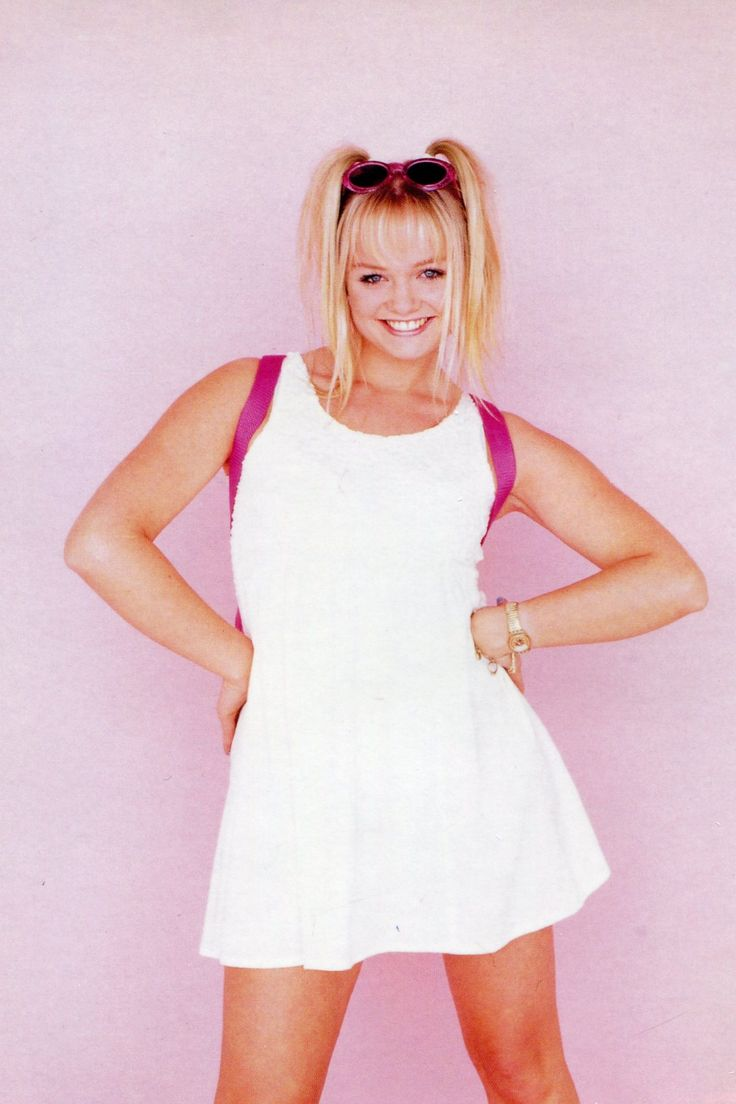 Baby spice white dress