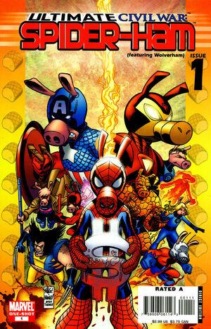 Spider Ham Ultimate Civil War
