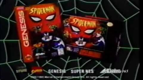 Spider-Man The Animated Series video game commercial - 1995
