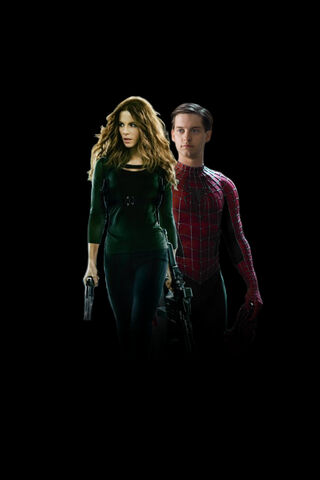 File:Promotional art of Kate Beckinsale & Tobey Maguire from Spider-Man 5 (2016).jpg