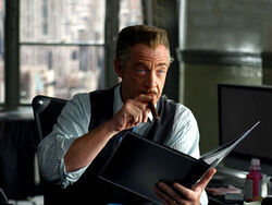 J. Jonah Jameson on his desk