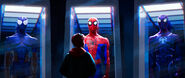 Miles Looking At Spider Suits (IntoTheSpider-Verse)