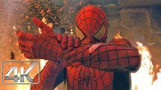 "Spider Man Vs Duende Verde ""Escena del Incendio"" LATINO (4k-HD) Spider-Man (2002)"
