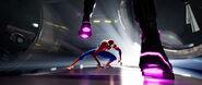 Spider-Man Fighting Prowler (IntoTheSpider-Verse)