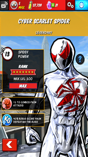 Character Profiles - Cyber Scarlet Spider