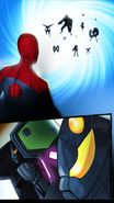Spider-Man, Electro, and Sinister Soldiers at the portal