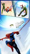 Spider-Man threw Electro