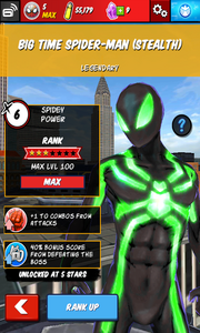 Character Profiles - Big Time Spider-Man (Stealth)