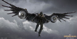 Vulture concept art Spider-Man Homecoming