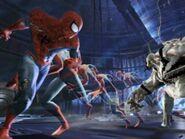 Spider-Man faces off against Anti-Venom.