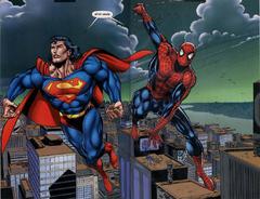 Spider-Man junto a Superman