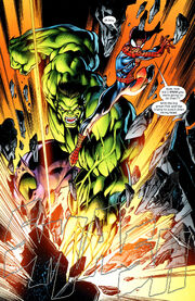 Peter (Earth-1610) vs the Hulk (Earth-1610)