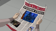 Peter Parker leyendo el Daily Bugle - Survival of the Fittest