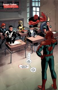 Spider-Man teaches at Avengers Academy