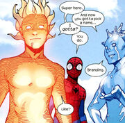 Peter with Iceman & Nova