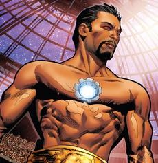 Tony con el Reactor Arc