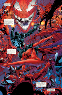 Carnage vs Venom y Scarlet Spider