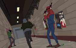 Peter deja escapar al ladron