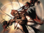 Carnage being attacked by Klaw