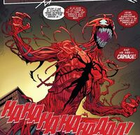 Norman Osborn (Earth-616) and Carnage (Klyntar) (Earth-616) from Amazing Spider-Man Vol 1 795 0001