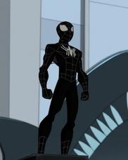Spider-Man con el traje negro