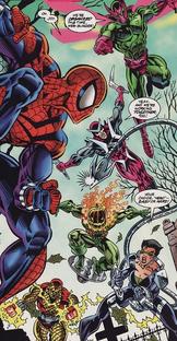 Siete Siniestros vs Spider-Man