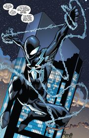 Peter Parker (Earth-616) with Venom (Klyntar) (Earth-616) from Amazing Spider-Man Vol 1 800 0001