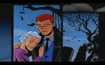 DXRD Caption of Aunt May (with Peter Parker) - Spider-Man Unlimited Intro