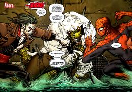 Morbius y Spider-Man vs Lagarto