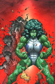 Jennifer (Earth-616) transforming in the She-Hulk