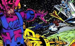 Galactus vs Cuatro fantasticos