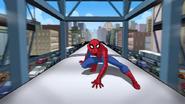 Spider Man encima de un tren - Interactions