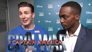 Captain America Civil War D23 Expo Interview - Chris Evans & Anthony Mackie (HD) Marvel 2016