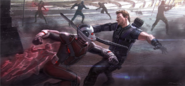 Ant-Man vs Hawkeye concept art
