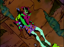 Green Goblin (Counter-Earth) loses his pants in Spider-Man Unlimited Episode 3