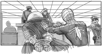 SM4 Arte conceptual Mysterio y Spider-Man