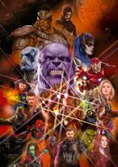 Avengers Infinity War promotional art