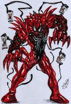 Spiderman venom carnage merge by darkartistdomain-d3ah8gy