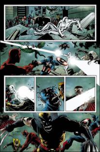 Silver Surfer vs Zombis