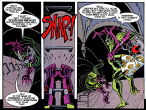 Green Goblin (Counter-Earth) loses his pants in Spider-Man Unlimited Volume 2 Issue 2